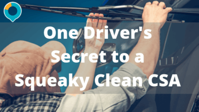 One Driver's Secret to a Squeaky Clean CSA