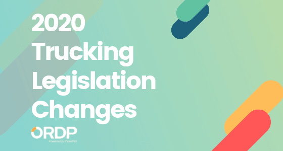 2020 trucking legislation changes for CDL Drivers