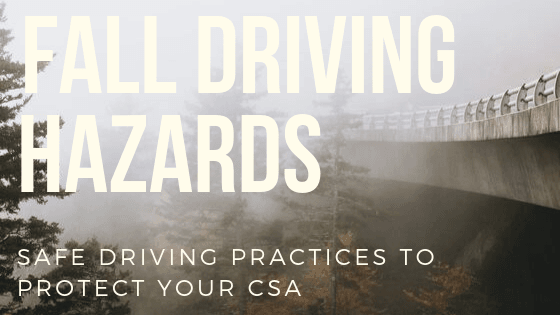 Fall Driving Hazards for Truckers